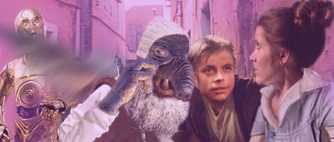 Luke watches his sister for reaction as Watto tells them about Ani, artwork by Nat