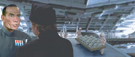 Commander Kane assumes command of the next available Star Destroyer filled with gas droids.