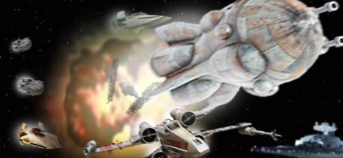 Leia's Devil Squadron soars overhead !