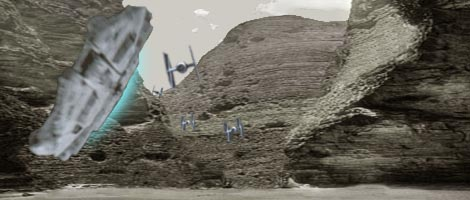 The Falcon twists through the tightly packed Bungle rock formations !