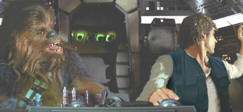 In such tight turns, Han displays his consummate skill as a pilot !