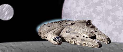 The Falcon moves towards Kessel. Artwork by Nat.