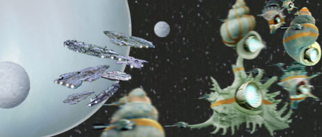 The Hutt battle fleet arrive in the Kessel system. A dynamic composition by Nat.