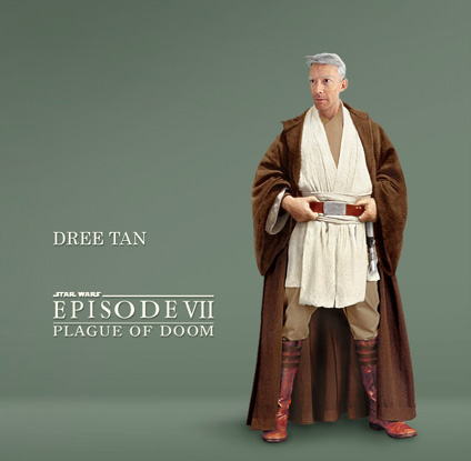 Dree Tan, corellian master Jedi, the first of the Elders who voyaged to Luke and offer support