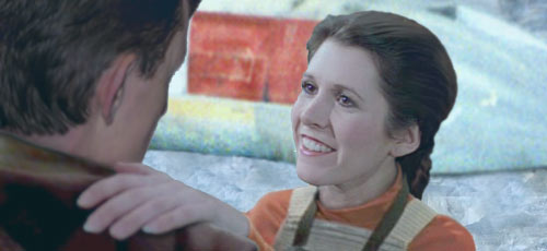 Luke congratulates his sister Leia on her growing skills, a warm picture created by Nat.