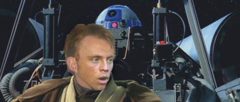 Luke says to Artoo, 'Oh boy, here we go !'