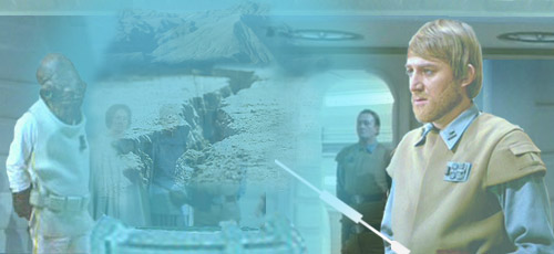 In this image by Nat, General Madine points out the rift fissure that will provide access for the starfighters.