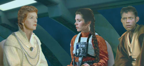 In this image by Nat, Mon Mothma reveals to Luke and Leia what little she recalls of Padme Amidala Naberrie, their mother....