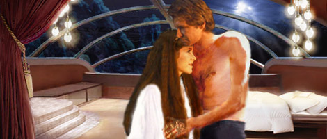 Han and Leia share a tender moment one evening before the storm of doom that will befall them. Artwork by Nat & Scott.