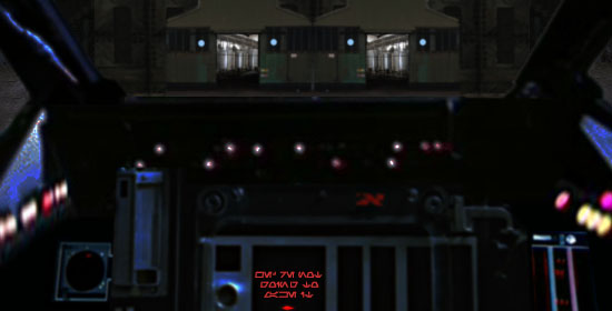 As Leia lines up on the factory complex, Artoo wails that they're not going to make it !