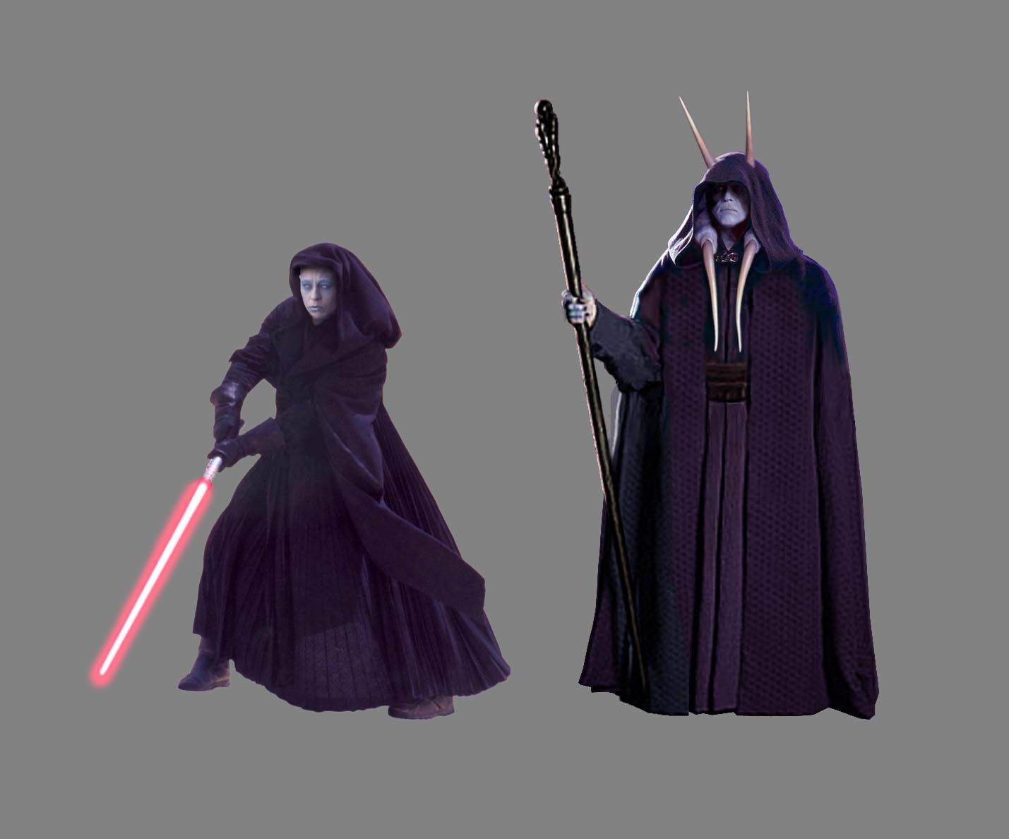 Darth Kayos and Darth Monstross. The two Lords of the Sith by Scott.