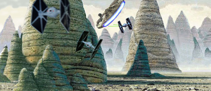 In this great image by Scott, the Falcon heads towards the Bungles !