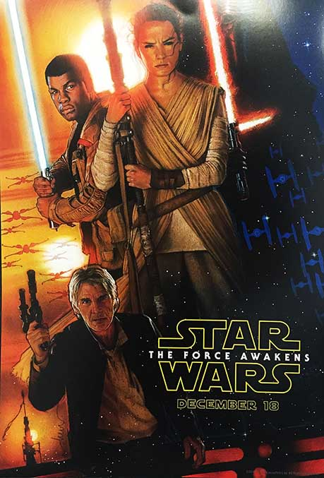 Drew Struzan poster for The Force Awakens