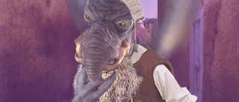 In this great picture by Nat, Watto recounts to Luke and Leia what he recalls of their father and grandmother.