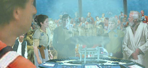 In this image illustrated by Nat, Leia requests that her 'Devil Group' lead the strike against the Imperial Gas Factory.